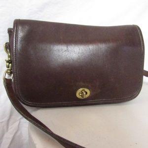 Vintage Brown Leather Coach Purse Crossbody